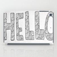 Wavy Hello iPad Case