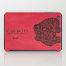 Super Mario Typography iPad Case