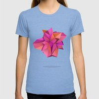 Pink Like Orange Womens Fitted Tee Tri-Blue SMALL
