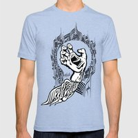 Screaming Klevra Mens Fitted Tee Tri-Blue SMALL