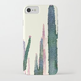 Clear iPhone Case - cactus water color cut - franciscomffonseca