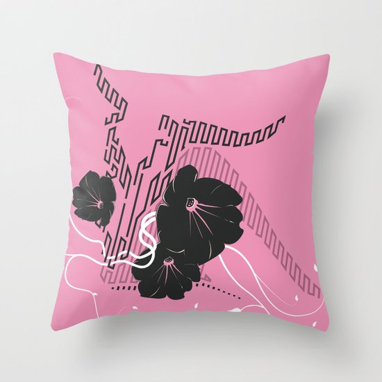 Untitled Art - Pink Throw Pillow