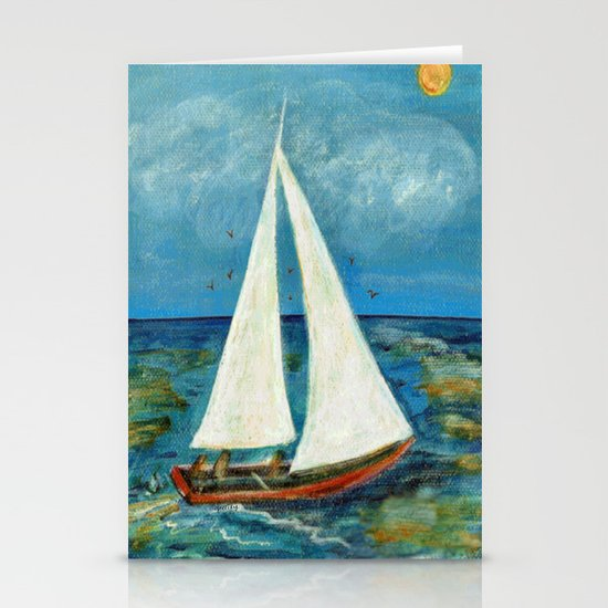 A Day at Sea Stationery Card