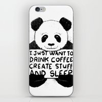 I Just Want To Drink Coffee, Create Stuff and Sleep iPhone & iPod Skin