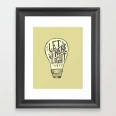Let There Be Light Framed Art Print