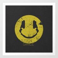 Music Smile Art Print
