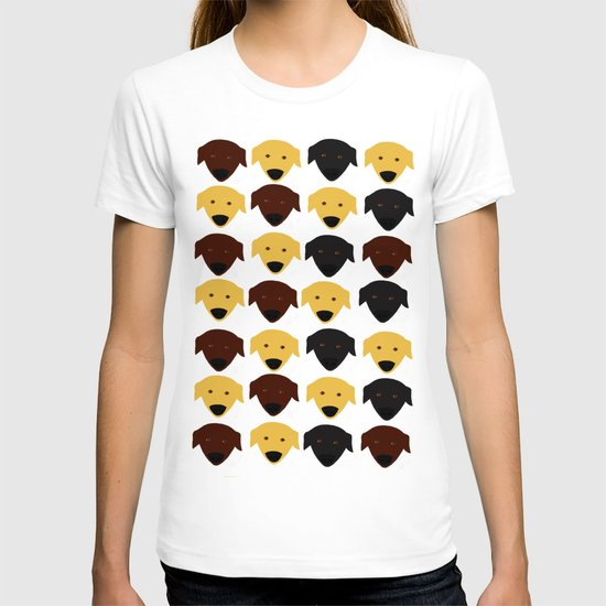 Labrador dog pattern T-shirt
