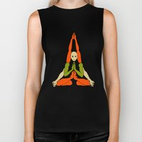 Patanjali Yoga: Kandipida Asana #2 Biker Tank