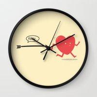 Follow the Heart Wall Clock