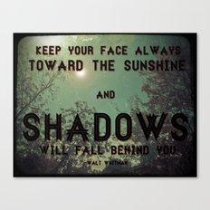 Toward The Sun Canvas Print
