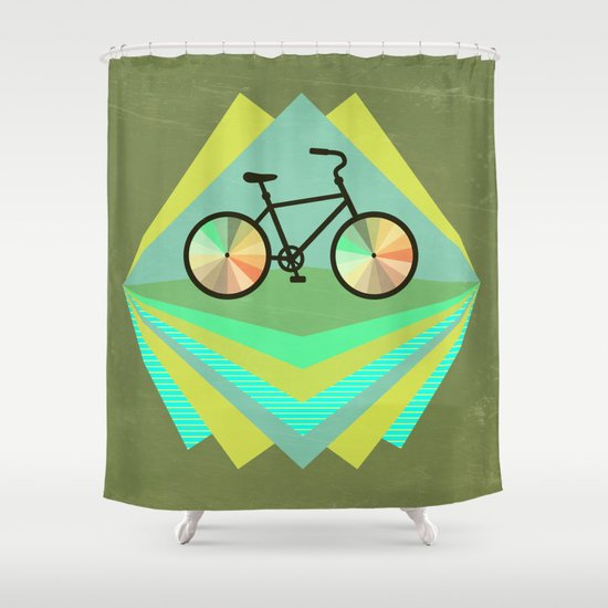 wanna ride my bicycle Shower Curtain