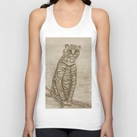 Ocelot Watching, By Ave … Unisex Tank Top