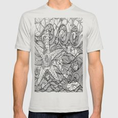 Starfish went out swimming Mens Fitted Tee Silver SMALL
