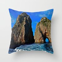 Amalfi Coast Throw Pillow