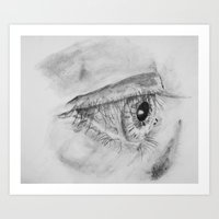 Eye Sketch Art Print
