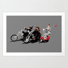 peewee rider. Art Print