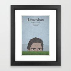 The Descendants - minimal poster Framed Art Print