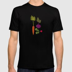Vegetable Medley SMALL Black Mens Fitted Tee