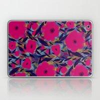 Layered Leaf Floral Fuchsia Laptop & iPad Skin