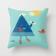 Bermuda Triangle Throw Pillow