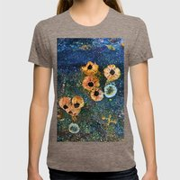 Abstract beautiful barnacles Womens Fitted Tee Tri-Coffee SMALL