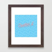 Crushin It Blue Squiggles /// www.pencilmeinstationery.com Framed Art Print