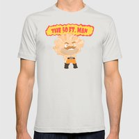 The powerful 50ft. man Mens Fitted Tee Silver SMALL