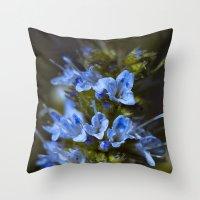 Blue True. Throw Pillow