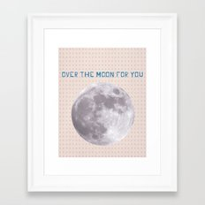 Over the moon for you Framed Art Print
