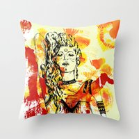 Tribal Beauty 2 Throw Pillow