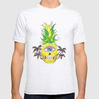 piña del mar Mens Fitted Tee Ash Grey SMALL