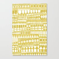 Golden Doodle abstract Canvas Print
