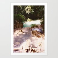 Kanchanburi TH - Erawon Waterfalls  Art Print