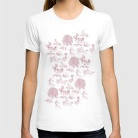 Shire Toile - Red Womens Fitted Tee White SMALL
