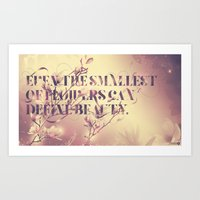 Even the smallest of flowers Art Print