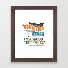 Imitation Flattery - Quotation Framed Art Print