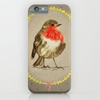 iPhone & iPod Case featuring vintage winterbird by youdesignme