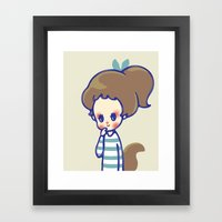 Why Are You Smiling? Framed Art Print
