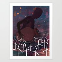 The Wind Deity Art Print