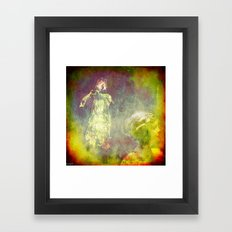 Observe by the ghost Framed Art Print