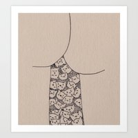 Things That Are Cute: Bu… Art Print
