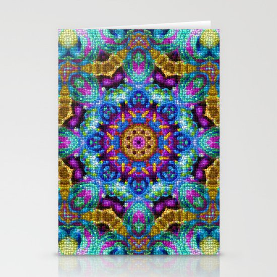 Colorful Mosaic Mandala Stationery Card