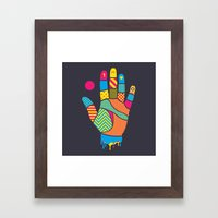 Heavy Handed Framed Art Print