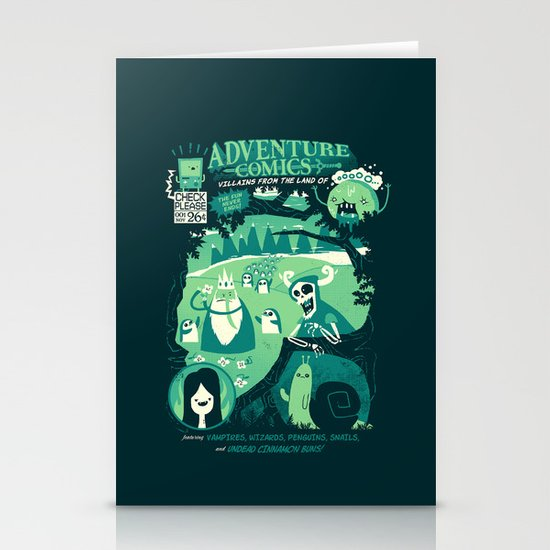 Adventure Comics Stationery Card