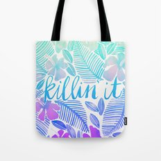 Killin' It – Turquoise + Lavender Ombré Tote Bag
