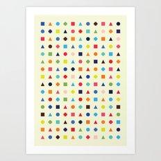 Dot Triangle Square Plus… Art Print