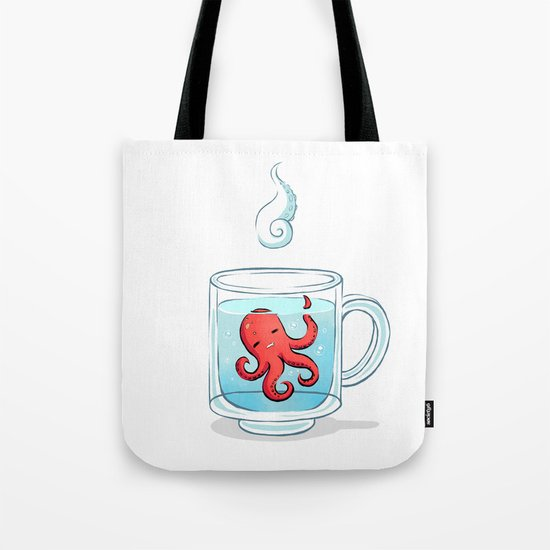 Octopus Tea Tote Bag