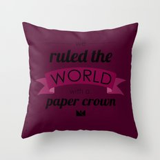 Paper Crown Throw Pillow