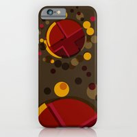Circular Brown Abstract … iPhone 6 Slim Case