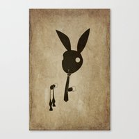 Goodbye Bow Tie Canvas Print